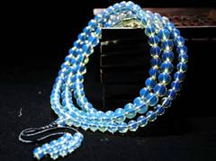 琥珀之王多米尼加天空蓝蓝珀108佛珠