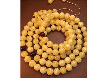 花纹非常均匀的108俄料蜜蜡佛珠,克价85元